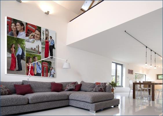 Foto collage su tela per arredare la propria casa - Foto per arredare casa ...