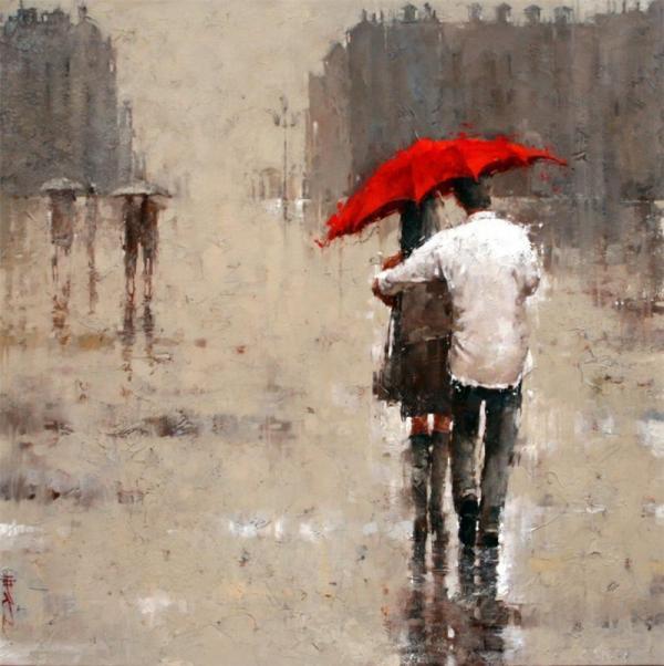 In due sotto un solo ombrello foto canvas blog for Sotto la pioggia ombrelli